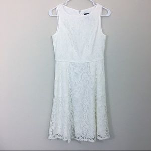Adrianna Papell   Cream Lace Dress. Size 4